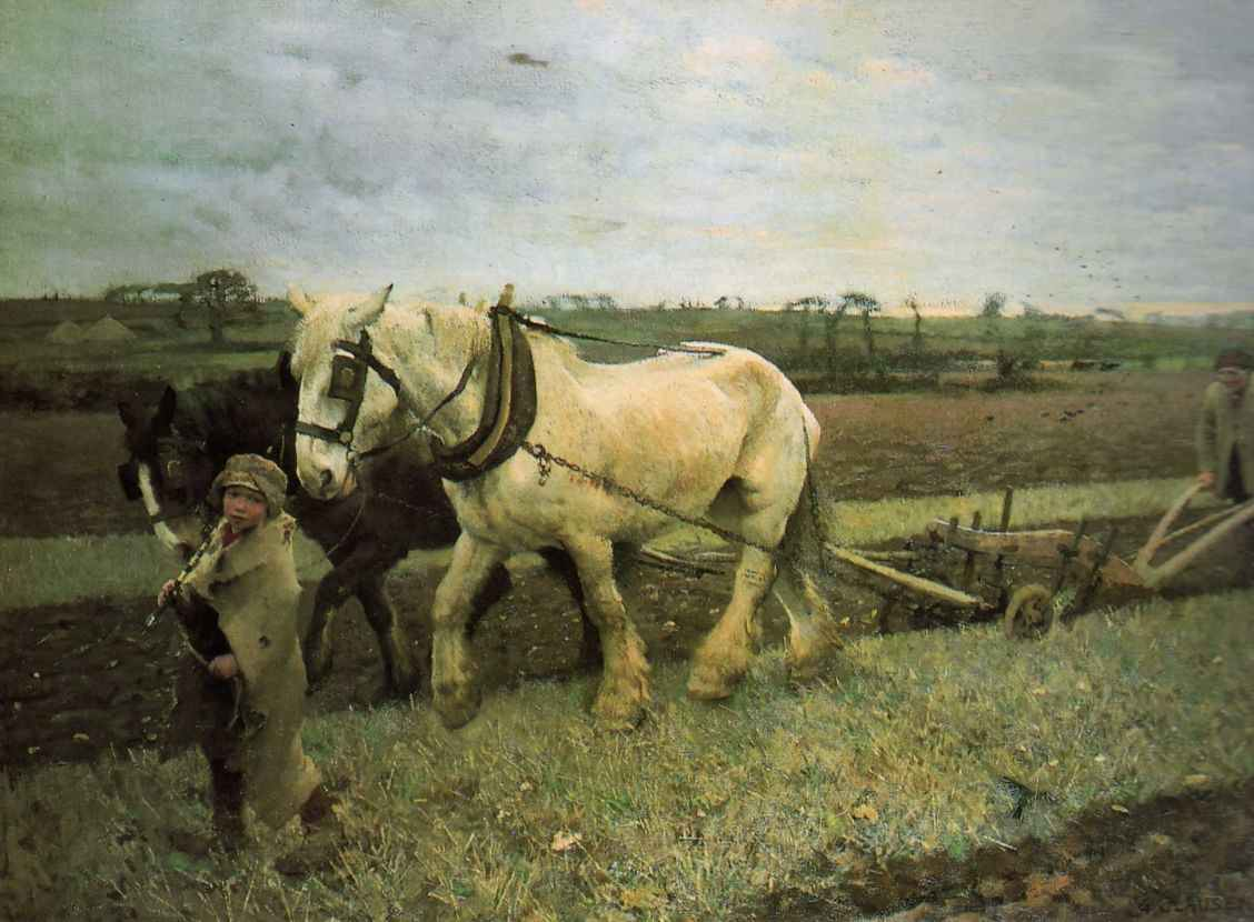 george clausen 'ploughing'